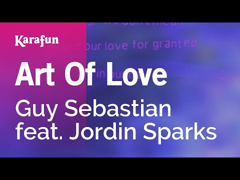 Karaoke Art Of Love - Guy Sebastian *