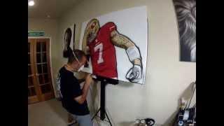 Colin Kaepernick Painting filmed using a #GoPro Camera