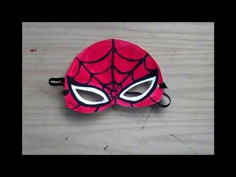 DIY Spider man Eye Mask and coloring from paper For Kids
