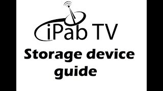 Building a Storage device to record and time shift Ipab Zgemma, Vu+, Evo, Mutant, Edision