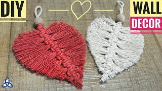 DIY Macrame Heart Wall Hanging - Wall Decoration Ideas