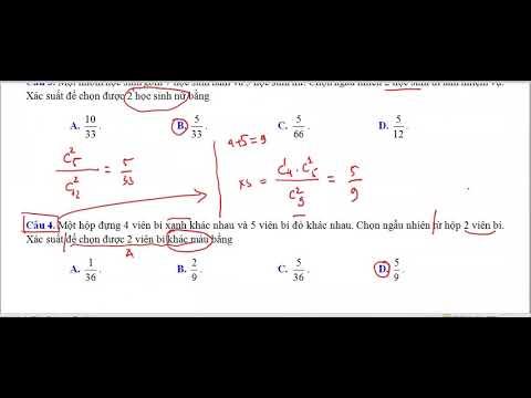 HD 18 câu ôn tập xác suất-Cô Thảo