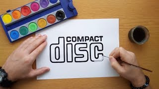 How to draw the CD logo - compact disc