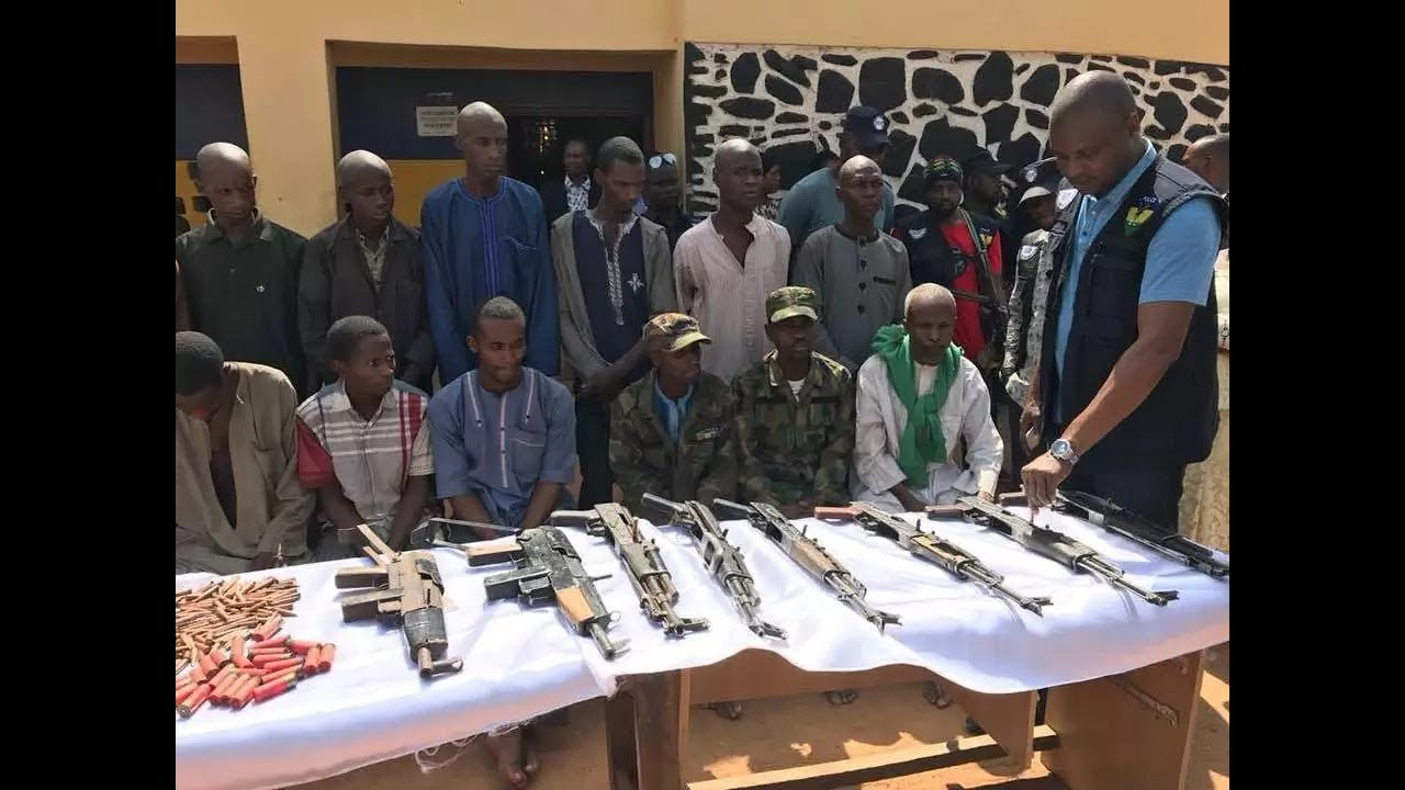Police parade armed robbers, kidnappers in Kaduna