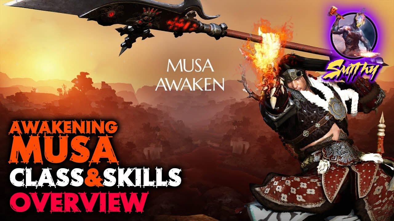 ⚔️[AWAKENING MUSA] Class & Skills Overview - Black Desert Mobile