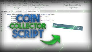 ROBLOX STUDIO How to make a coin collector and a leaderboard