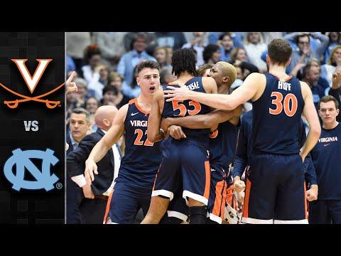 Virginia vs. North Carolina Men's Basketball Highlights (2019-20)