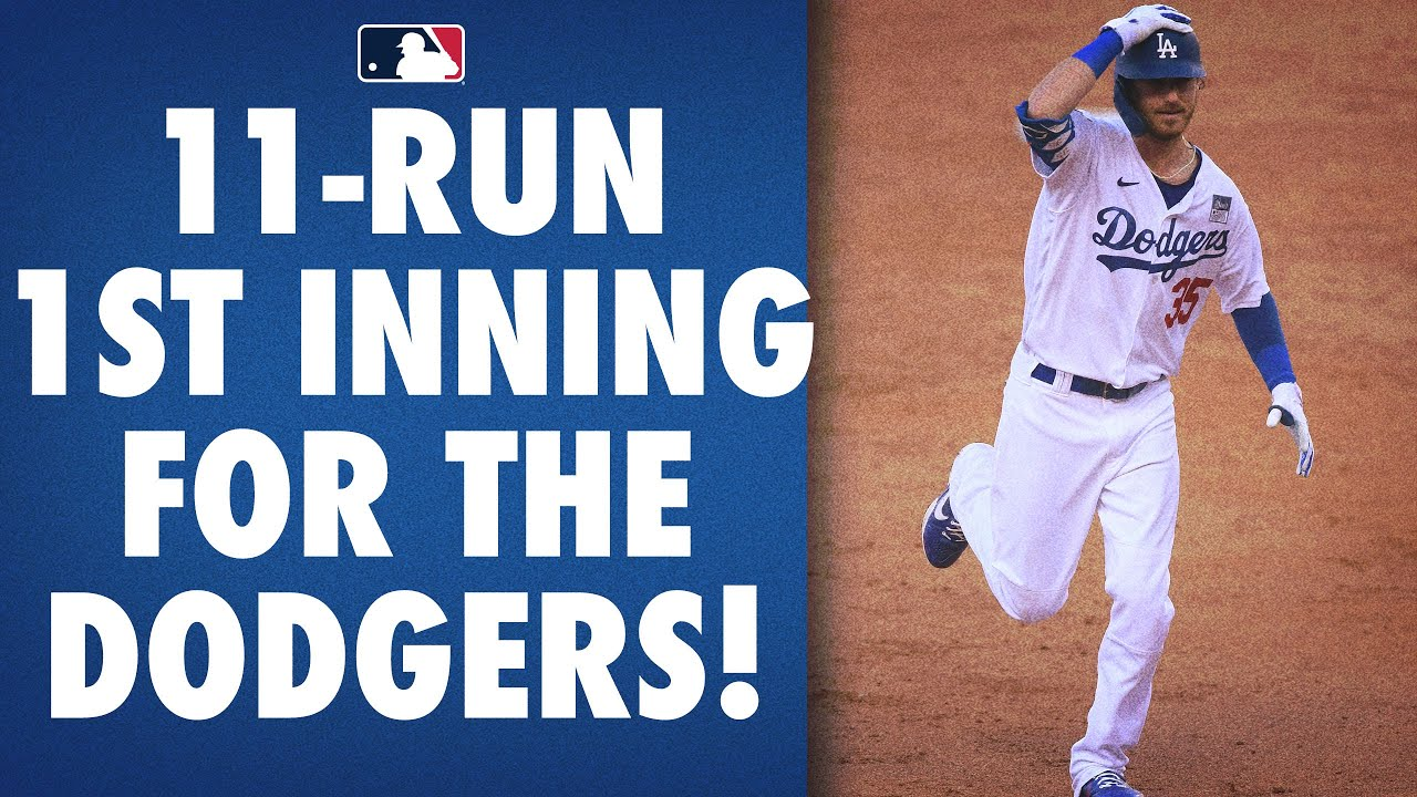 The Dodgers explode for 11 runs in the 1st inning!