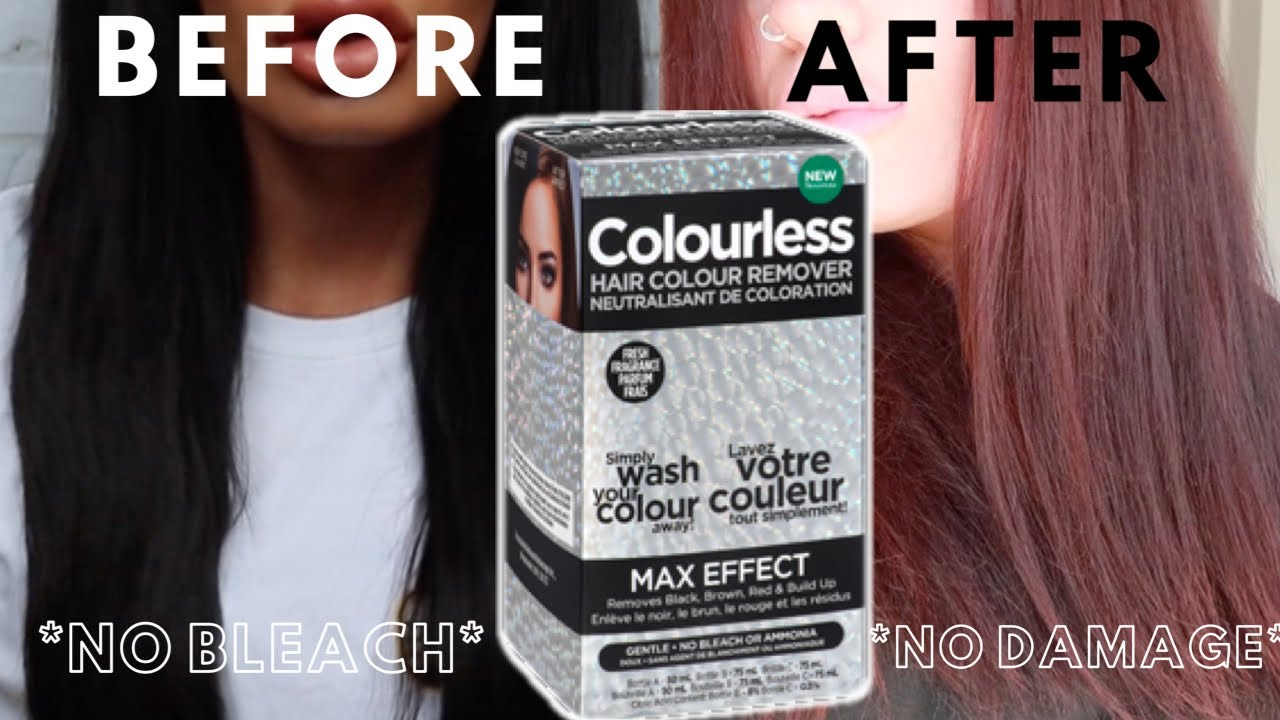 Remove Permanent Black Hair Dye At Home No Bleach No Damage Colourless Remover Review Youtube
