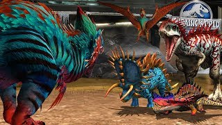 YUDON Vs 9 DINOSAURS! The Strongest Dinosaurs In Game || Jurassic World The Game
