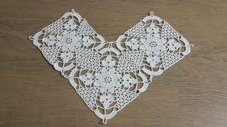 Tığişi Örgü Kare Dantel Motifi Yapımı \u0026 Crochet