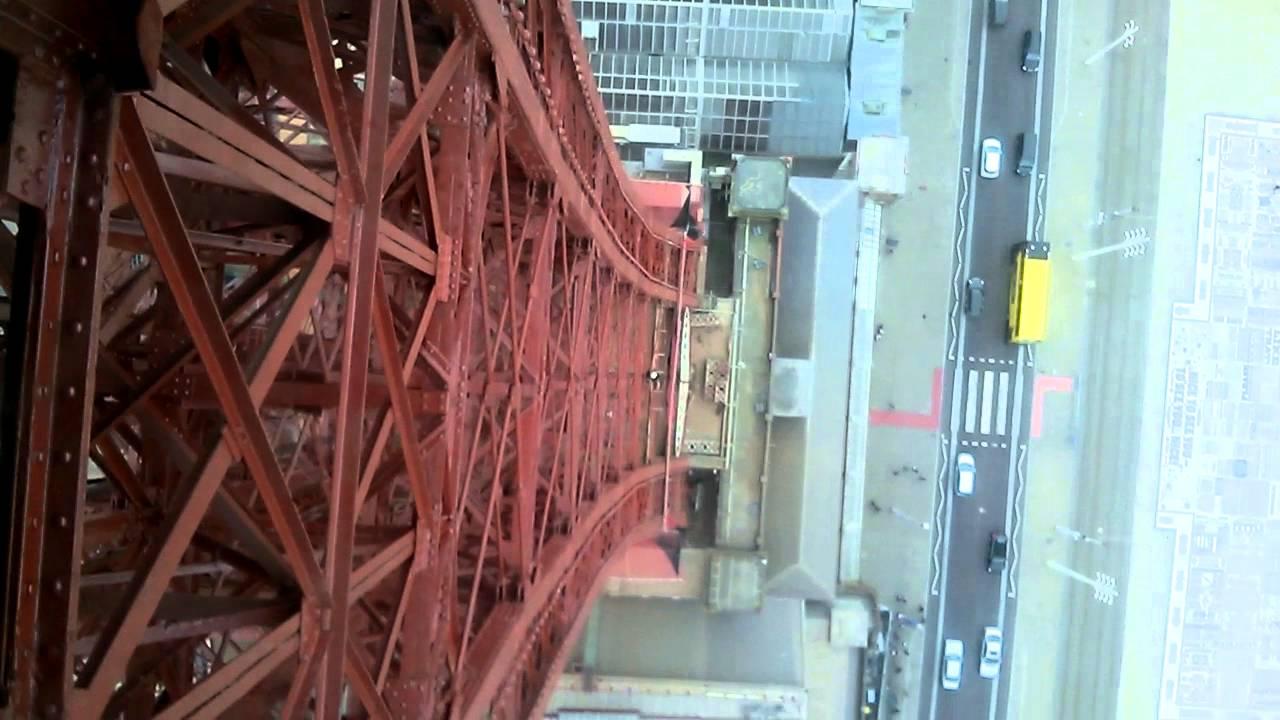 A Walk On The Blackpool Tower Skywalk Glass Floor Youtube