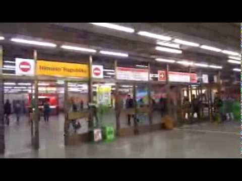 Travel on the metro in Prague, Czech Republic
