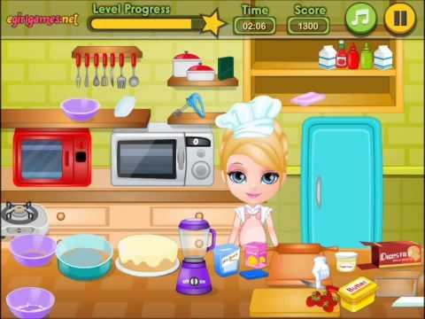 Sweet Baby Barbie Surprise Cake Video-Baby Cooking Games-Barbie Games: Newfun Babygames ID3248 фото