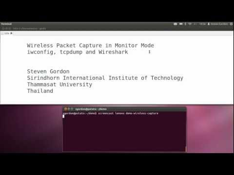 Wireless Packet Capture with iwconfig and tcpdump