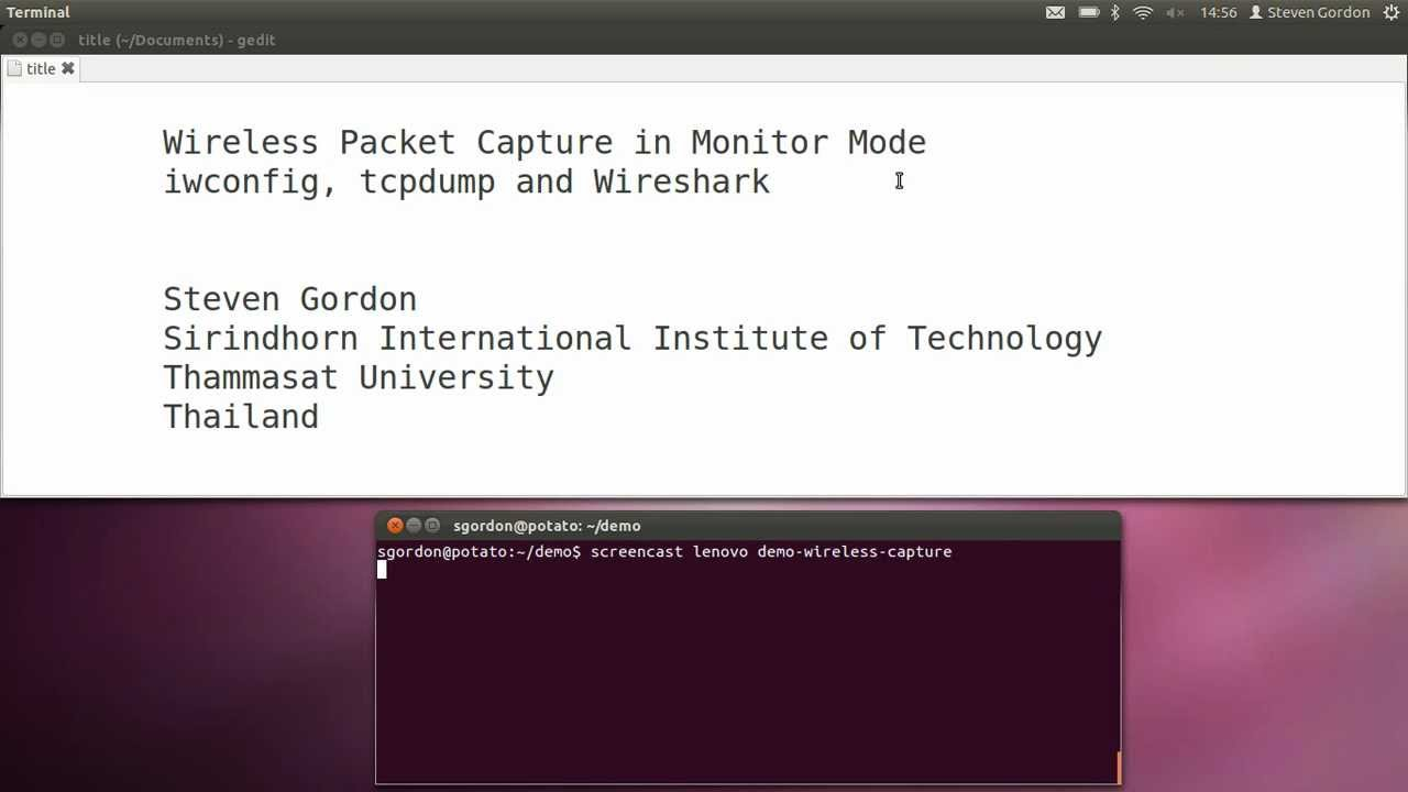 Capturing Wireless LAN Packets on Ubuntu with tcpdump and Kismet
