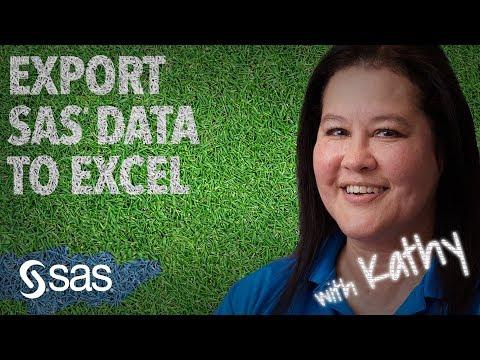 SAS Tutorial   How To Export SAS Data To Excel