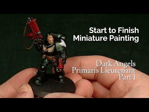 Miniature Painting | Warhammer 40k | Dark Angels - Primaris Lieutenant - Part 1