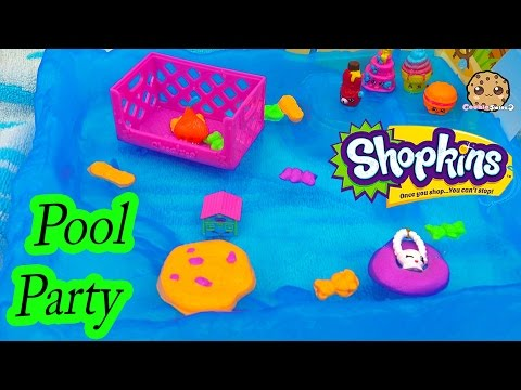 Neon Floating Pool Party - Shopkins Season 4 Blind Bag Unboxing Toy - Cookie Swirl C Video
