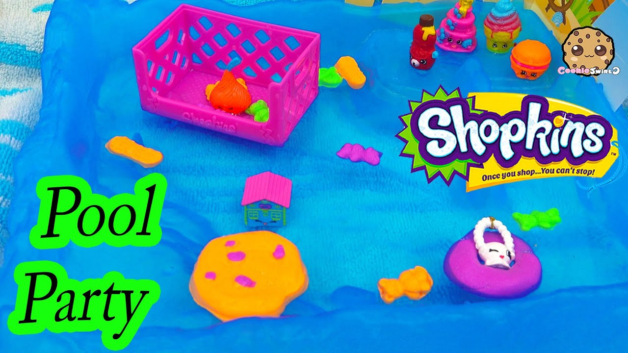 Neon Floating Pool Party Shopkins Season 4 Blind Bag Unboxing