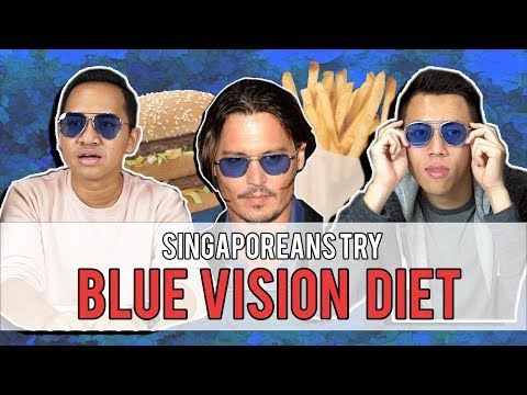 SINGAPOREANS TRY: BLUE VISION DIET - DOES IT WORK!?