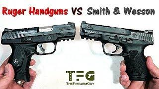 Ruger versus Smith & Wesson - Handgun Showdown - TheFireArmGuy