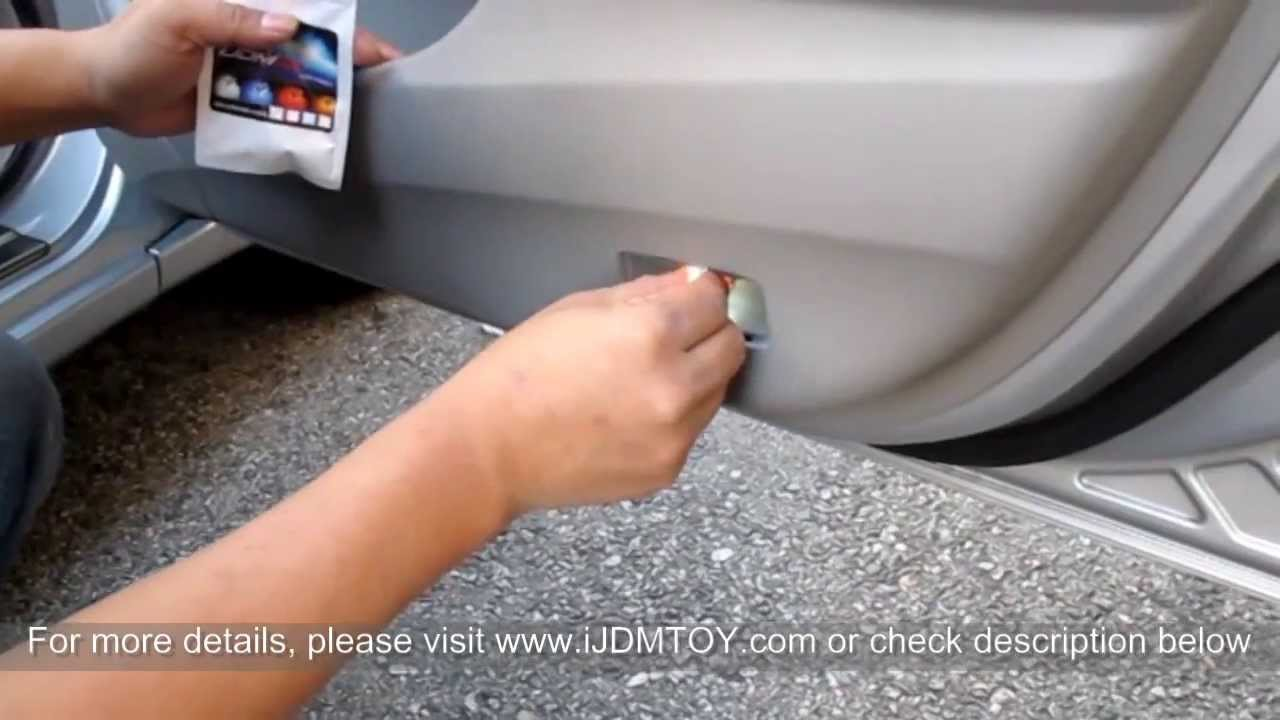 Ijdmtoy Tutorial How To Install Led Door Courtesy Lights Youtube Wiring Diagram Spotlights Car