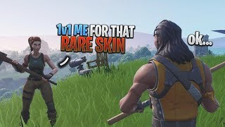 I let kids 1v1 me for the NEW RAREST SKIN on Fortnite and THIS happened...