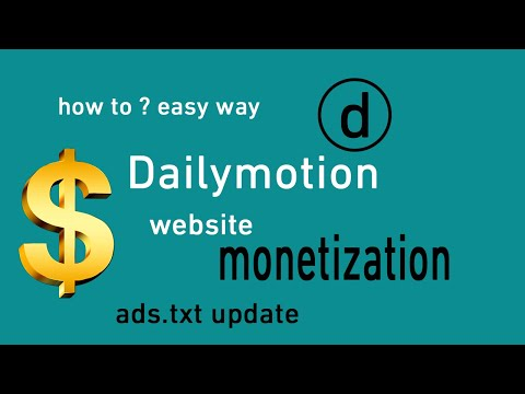 Dailymotion monetization solved verify domain ads.txt file