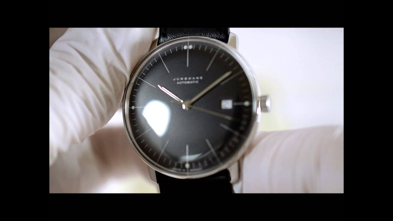 junghans max bill automatic 027 youtube. Black Bedroom Furniture Sets. Home Design Ideas