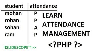 Creating Attendance Management System in PHP  - Part 1