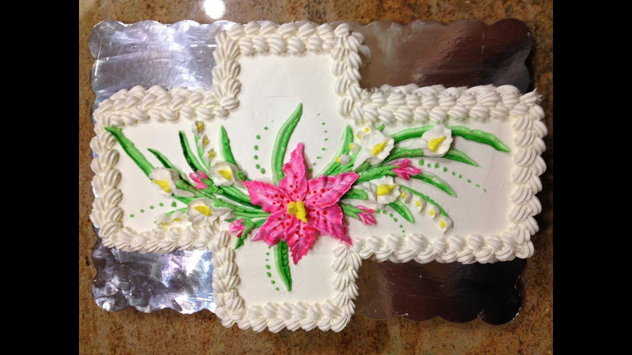 Easter Cross Cake Decorating