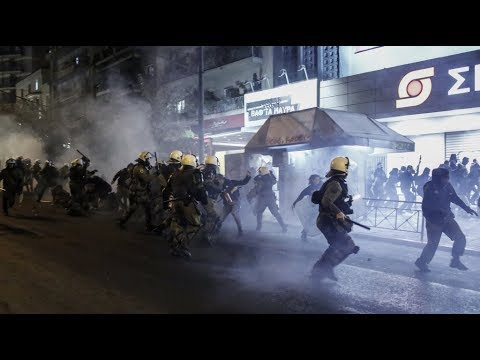 This is what democracy looks like in Greece: Riot police brutally attacks protesters for no reason