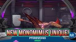 NEW MONOMIMUS FLIER UNIQUE HYBRID! PTEROVEXUS SHOWCASE! | Jurassic World Alive 1.6