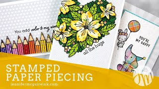 Stamped Paper Piecing (Using Patterned Paper)