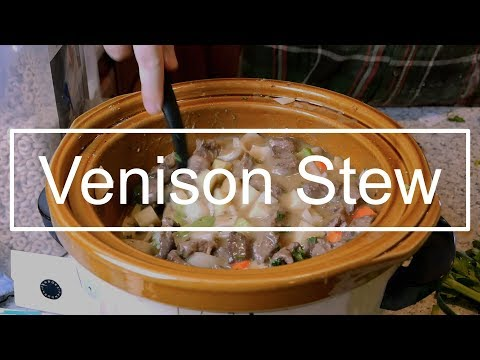 Cooking AWESOME Venison (Deer) Stew In The SLOW COOKER