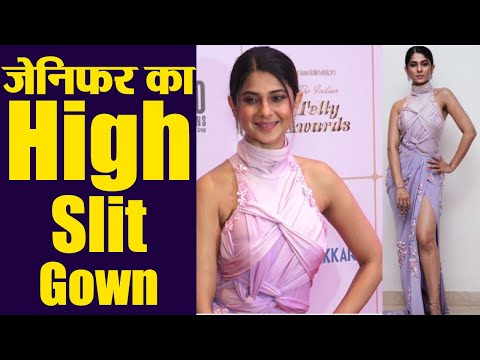 Jennifer Winget shines in Thigh High Slit gown at Indian Telly Awards 2019; Watch video