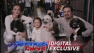 Elimination Interview: Pompeyo Family Dogs Send Love To Fans - America's Got Talent 2017