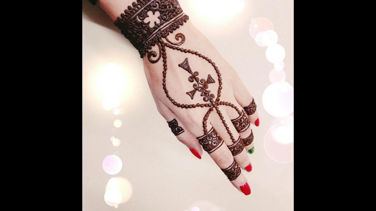 Mehndi Bracelet Design For Kids : Bracelet henna design youtube