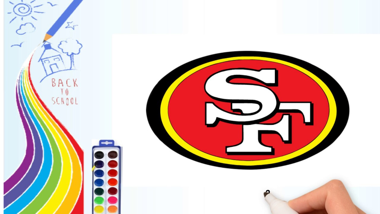 how to draw drawing the san francisco 49ers logo