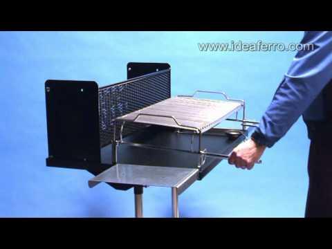 Barbecue a legna maxi con griglia regolabile e girevole for Griglia per barbecue bricoman