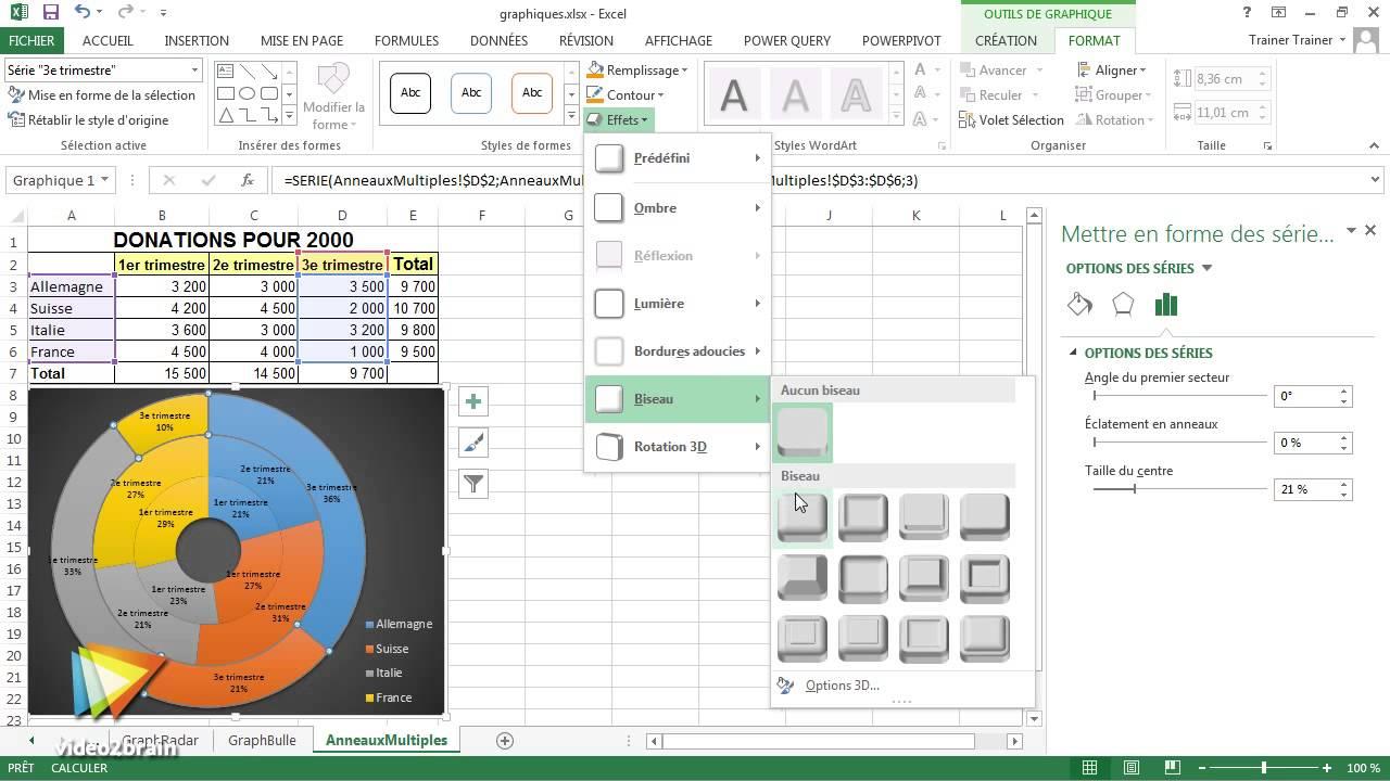 tutoriel excel 2013   l u0026 39 utilit u00e9 des graphiques  u00e0 anneaux