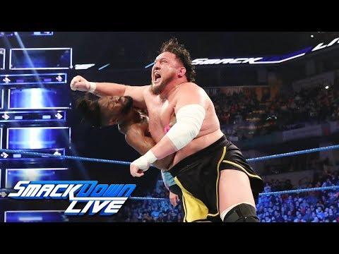 Kofi Kingston vs. Samoa Joe - Gauntlet Match Part 4: SmackDown LIVE, March 19, 2019