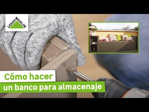 Cómo hacer un banco  para almacenaje (Leroy Merlin)