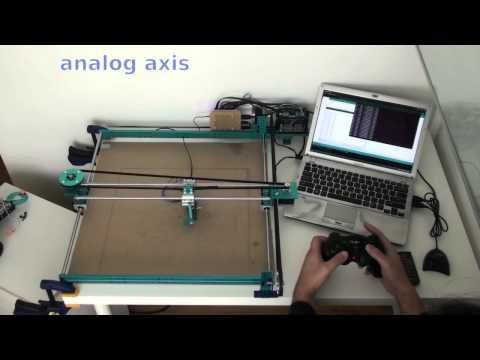 XY-plotter by Makeblock - control by joystick