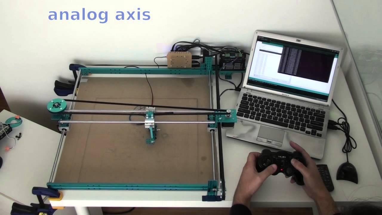 Xy plotter by makeblock control joystick