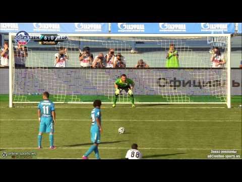 Alexander Kerzhakov Penalty goal- Zenit 7-0 Torpedo Moskva (RFPL 2014/15)
