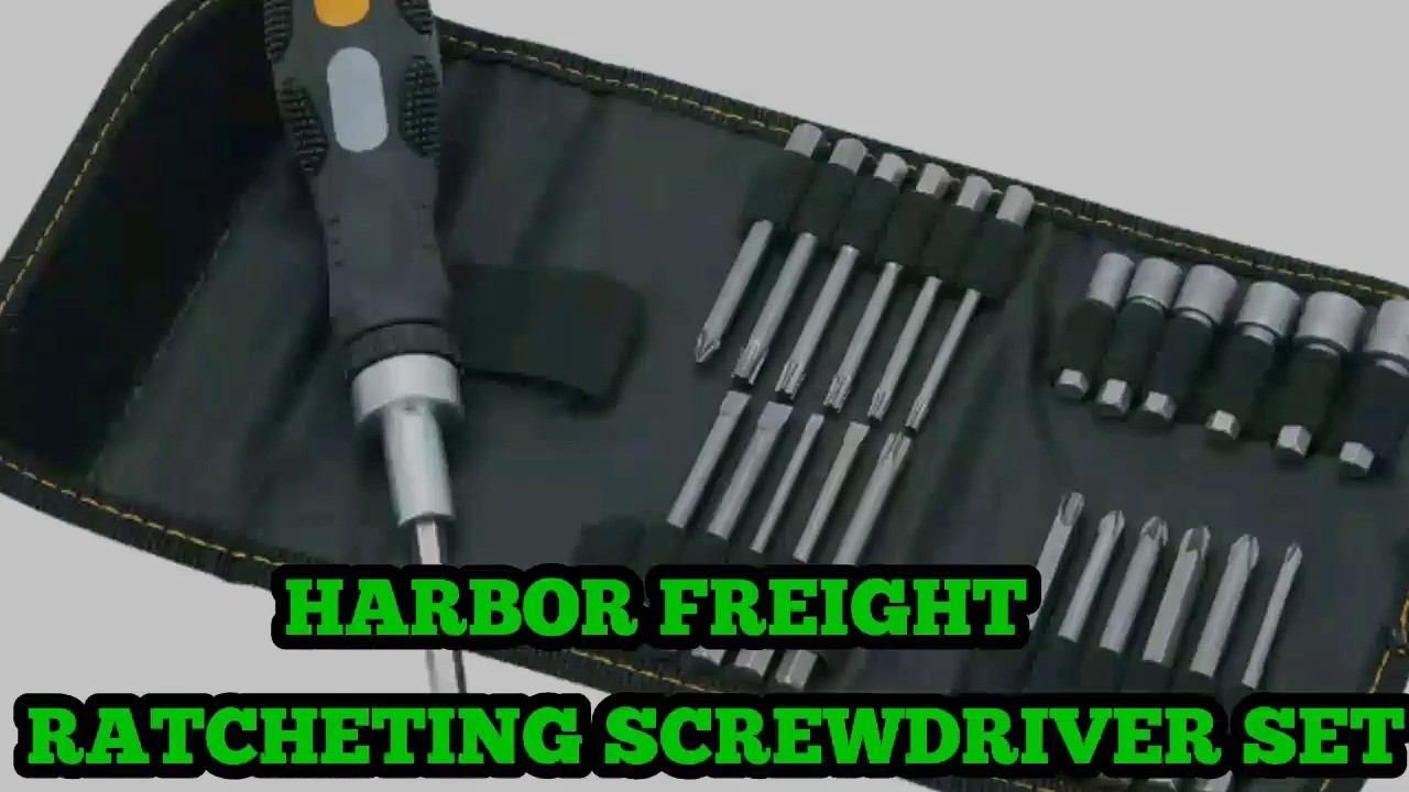 PITTSBURGH 26 Pc Ratcheting Screwdriver Set Screw Driver Kit