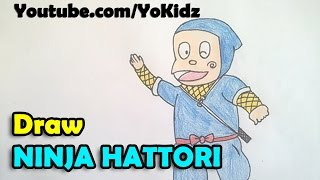 How to draw Ninja Hattori Step by step