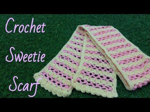 ถักผ้าพันคอโครเชต์หวานเย็น (Crochet Sweetie Scarf)